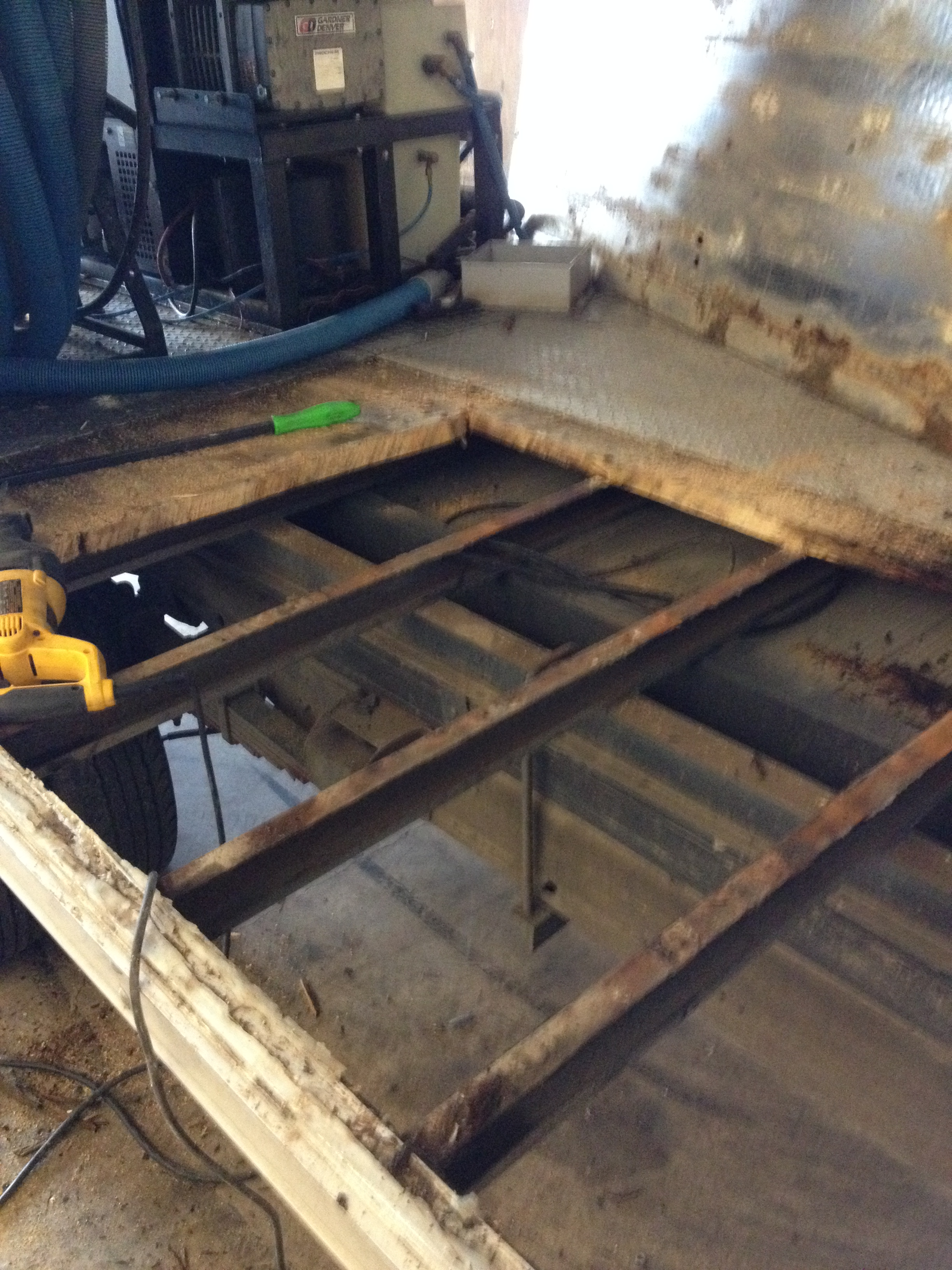 Customer Box Truck, Partially Rotted Floor, I Only Cut Out And Replace A  Section Of The Floor, Then Installed New Wood, And Cleaned And Under Coated  The New ...